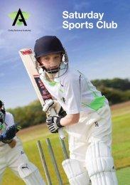 Saturday Sports Club - Corby Business Academy
