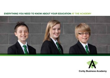 Guide for new students (2013-14) - Corby Business Academy