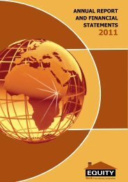 Equity Bank Group: Annual Report 2011