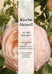 Gemeindebrief Nr. 108, Juni 2013 - Protestantische ...