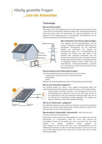 Häufig gestellte Fragen - PV-Konzept GmbH