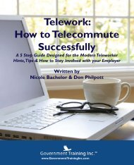 Telework: How to Telecommute Successfully - Government Training ...