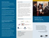 Private Sector Advisory Group - Global Corporate Governance Forum