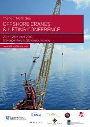 1320100 The 18th North Sea Offshore Cranes & Lifting Conference