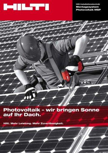 Photovoltaik – wir bringen Sonne auf Ihr Dach. - pew