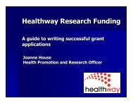 Healthway Research Funding