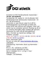 Invitation til DGI Sønderjyllands mesterskab i - Ove Schneider´s ...