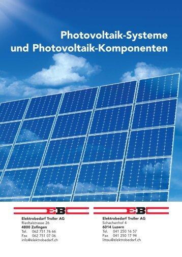 Photovoltaik-Systeme und Photovoltaik-Komponenten