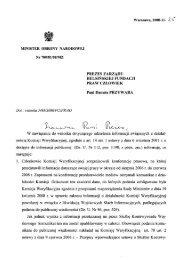 Pismo Ministra Obrony Narodowej z dnia 25 listopada 2008 r ...