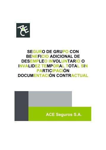 Condiciones Generales Grupo Desempleo Sin ... - ACE Group