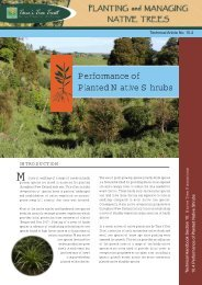 Performance of Planted Native Shrubs