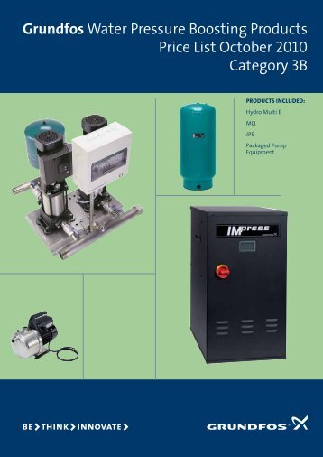 Cat 3 pricelist - Grundfos
