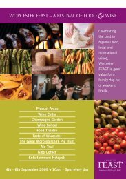 WORCESTER FEAST – A FESTIVAL OF FOOD &WINE;
