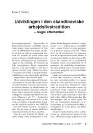 Udviklingen i den skandinaviske ... - Nyt om Arbejdsliv