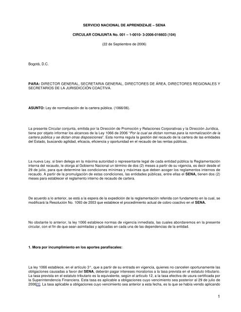 SERVICIO NACIONAL DE APRENDIZAJE – SENA ... - Camacol d898365cdc85