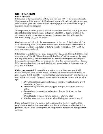 Nitrification & denitrification