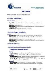 031109 Barcelona Euromed Forum prog-particip_EN