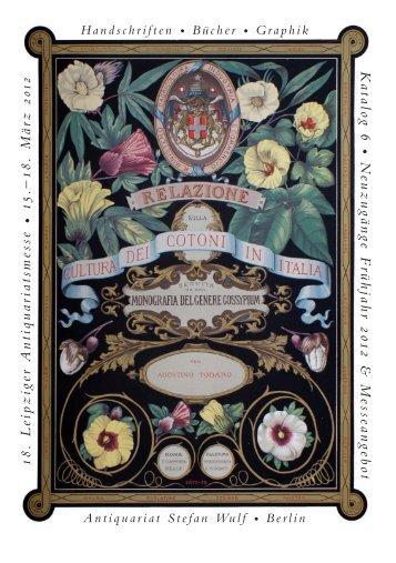 1 8. Leipziger Antiquariatsmesse • 15. - RARE BOOKS BERLIN ...