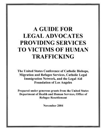 Guide for Legal Advocates Providing Services to Victims of Human ...