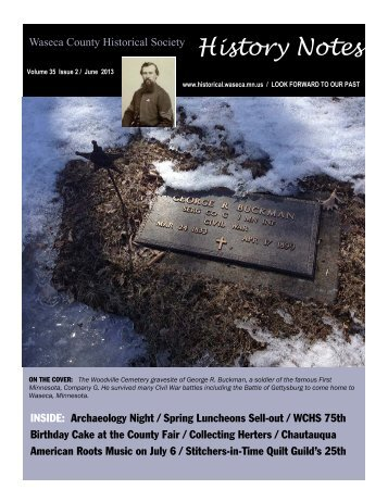 Current Newsletter - Waseca County Historical Society