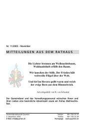 Gemeindenachrichten November - Gemeinde Quarten