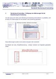 Merkblatt Monitoring & Controlling - ECG GmbH Berlin