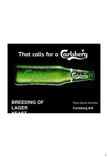BREEDING OF LAGER YEAST - European Brewery Convention