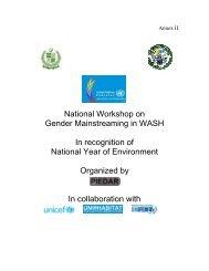 National Workshop on Gender Mainstreaming in WASH In ...