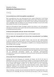 Mündliche Prüfung Methodisches Konstruieren (Diplom)