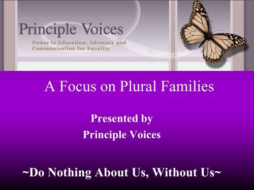 A Focus on Plural Families