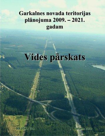 Vides pārskats - Rīgas Plānošanas Reģions
