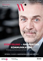 storytelling – nachhaltige kommunikation - Stier Communications AG