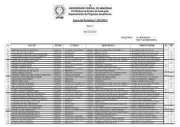 anexo com lista dos alunos deferidos e indeferidos - PROEG