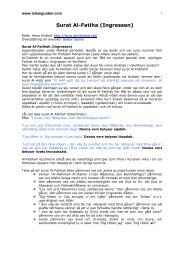 Surat Al-Fatiha (Ingressen) - Islamguiden