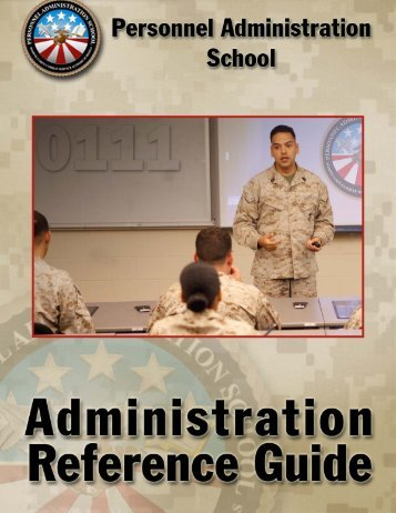 Admin Reference Guide - Marine Corps Combat Service Support ...