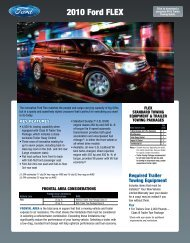 Ford 2010 Flex Towing Guide