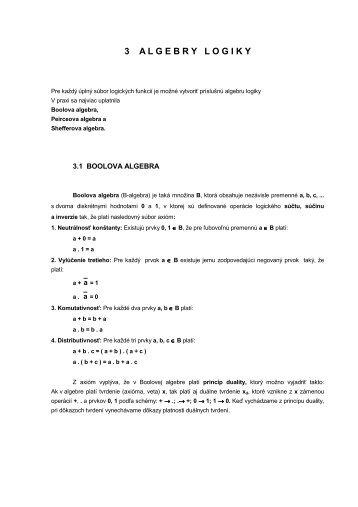 LS3 Algebry logiky - Hornad