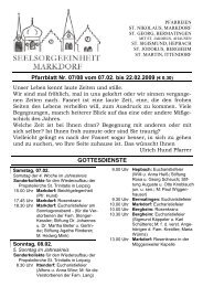 Pfarrblatt Nr. 07/08 vom 07.02. bis 22.02.2009 (€ 0,30 ...