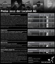 Preise 2012 der Localnet AG
