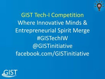 GIST Accelerator - GIST Global Innovation through Science ...