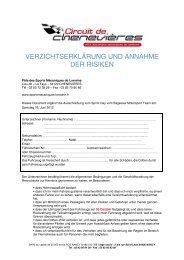 VERZICHTSERKLÄRUNG UND ANNAHME DER ... - Smotors.ch