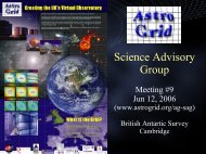 Science Advisory Group - AstroGrid wiki