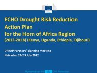 ECHO Drought Risk Reduction Action Plan for the Horn of Africa ...