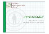 Férfiak túlsúlyban - Országos Egészségfejlesztési Intézet