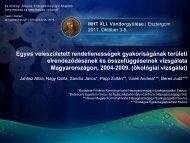MHT XLI. Vándorgyűlése Esztergom 2012. Október 3-5. - Országos ...