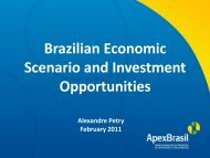 Brazilian Economic Scenario and Investment Opportunities