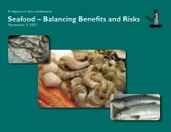 Seafood - Balancing Benefits and Risks - New Hampshire Sea Grant