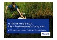 Az Allianz Hungária Zrt. dolgozói egészségmegőrző programja