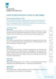 nicht-interventionelle Studien - AGAPLESION MARKUS ...