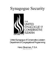 USCJ Primer on Synagogue Security - the METNY District of the ...